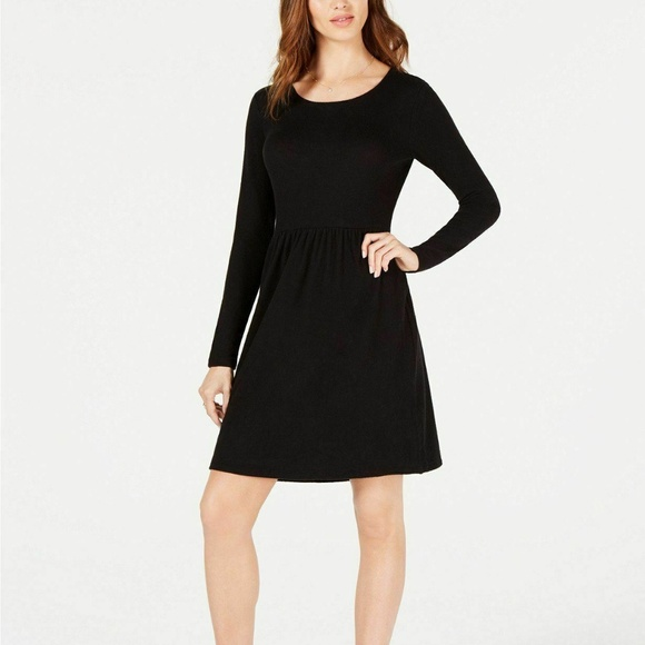 Maison Jules Dresses & Skirts - NWT MAISON JULES LONG SLEEVES SNIT FIT FLARE DRESS